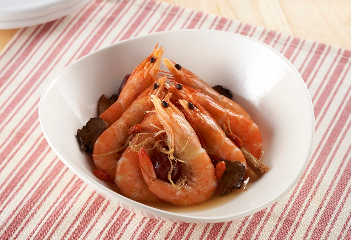 Poached Shrimp in Shaoxing Wine