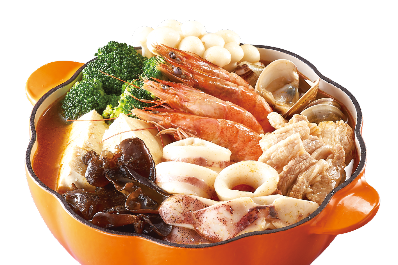 Assorted Seafood in Curry Pot