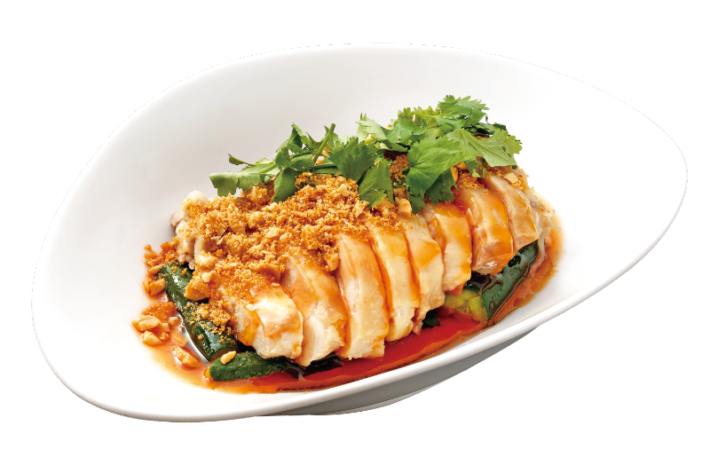 Steamed Marinated Chicken Sprinkled with Peanut Powder