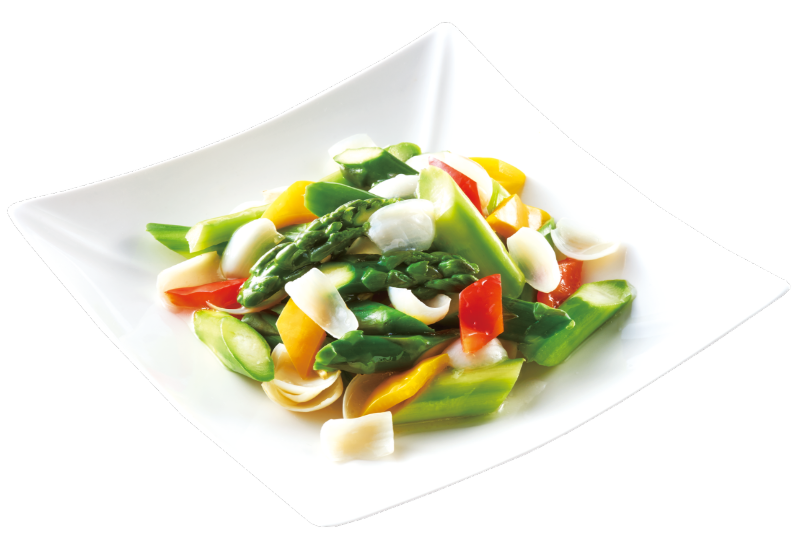 Lily Buds Stir-fried with Asparagus