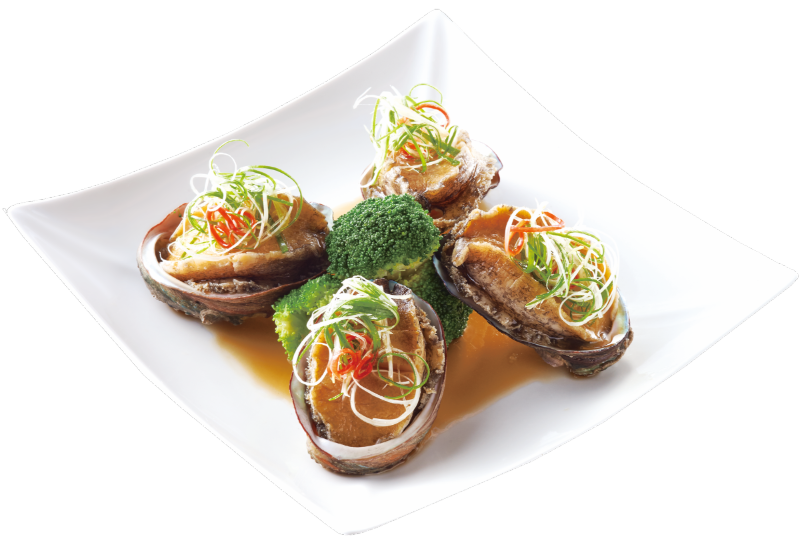Abalone Steamed with Scallions